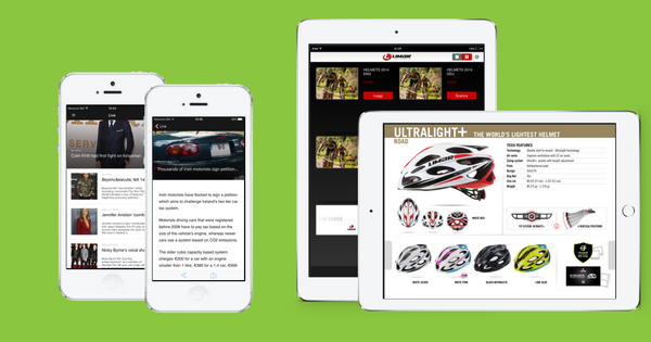 Publish single articles and publications - like catalogs, guides, magazines and more - to a content app