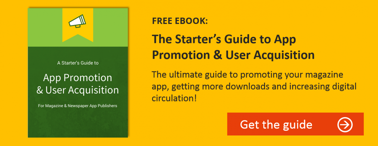 how to promote magazine app guide